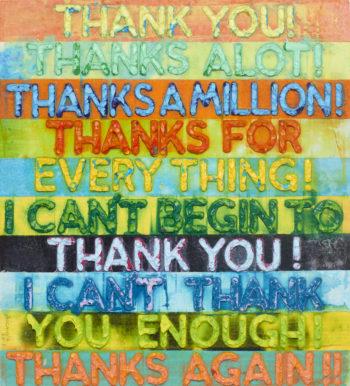 Thank You - Mel Bochner