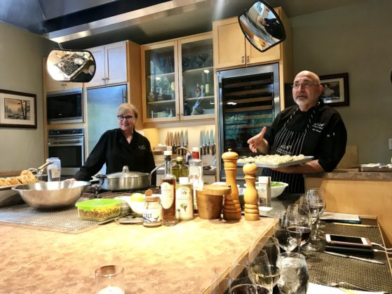 Lenore Emery-Neroni and Bob Neroni, owners of EVOO Cooking School in Cannon Beach, are among local chefs who will be creating menus inspired by James Beard during the North Coast Culinary Fest.