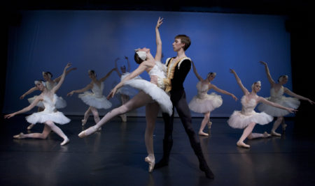 Maggie Rupp and Peter-Deffebach in Swan Lake. Photo by Blaine Truitt Covert.