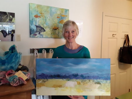 Mary Ann Gantenbein will teach a class for adults on collage during the Cannon Beach Summer Art Camp.