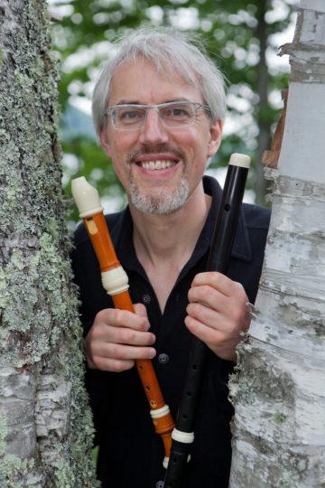 The Hendrix of the recorder, Matthias Maute. Photo by Bill Blackstone.
