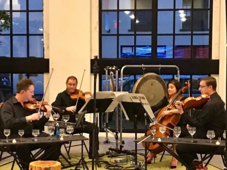 Pyxis Quartet performed George Crumb's Black Angels at Makrokosmos Project V.