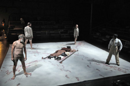A scene from Portland Opera's new production of Philip Glass's In the Penal Colony. Photo by Cory Weaver.
