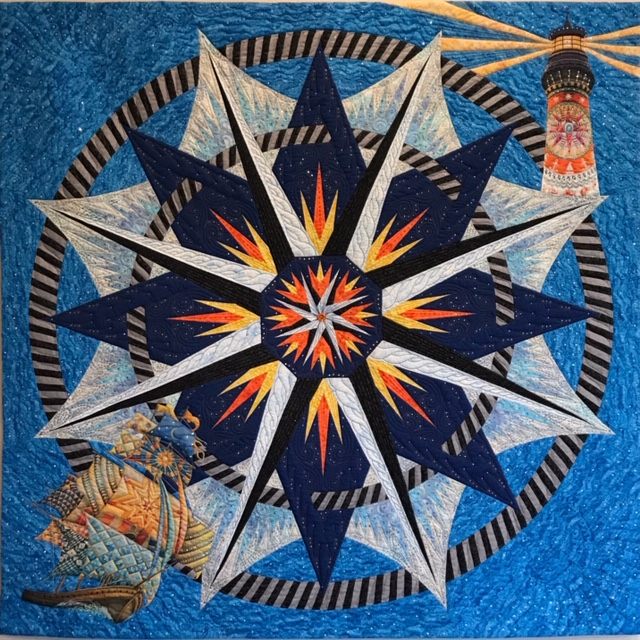 """Heading Home,"" a joint effort by members of the Oregon Coastal Quilters Guild, will be raffled off at the Quilts by the Sea show."