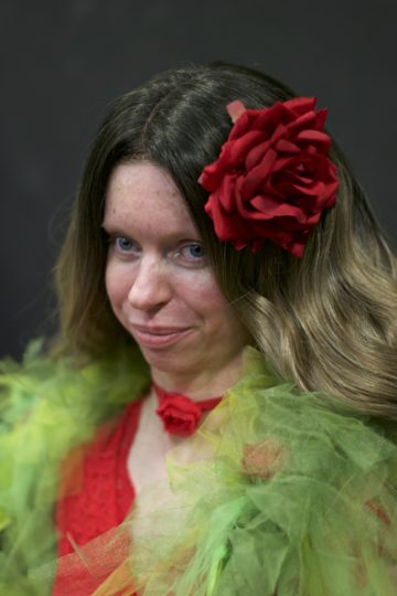 Anne-Marie Plass in costume as The Rose