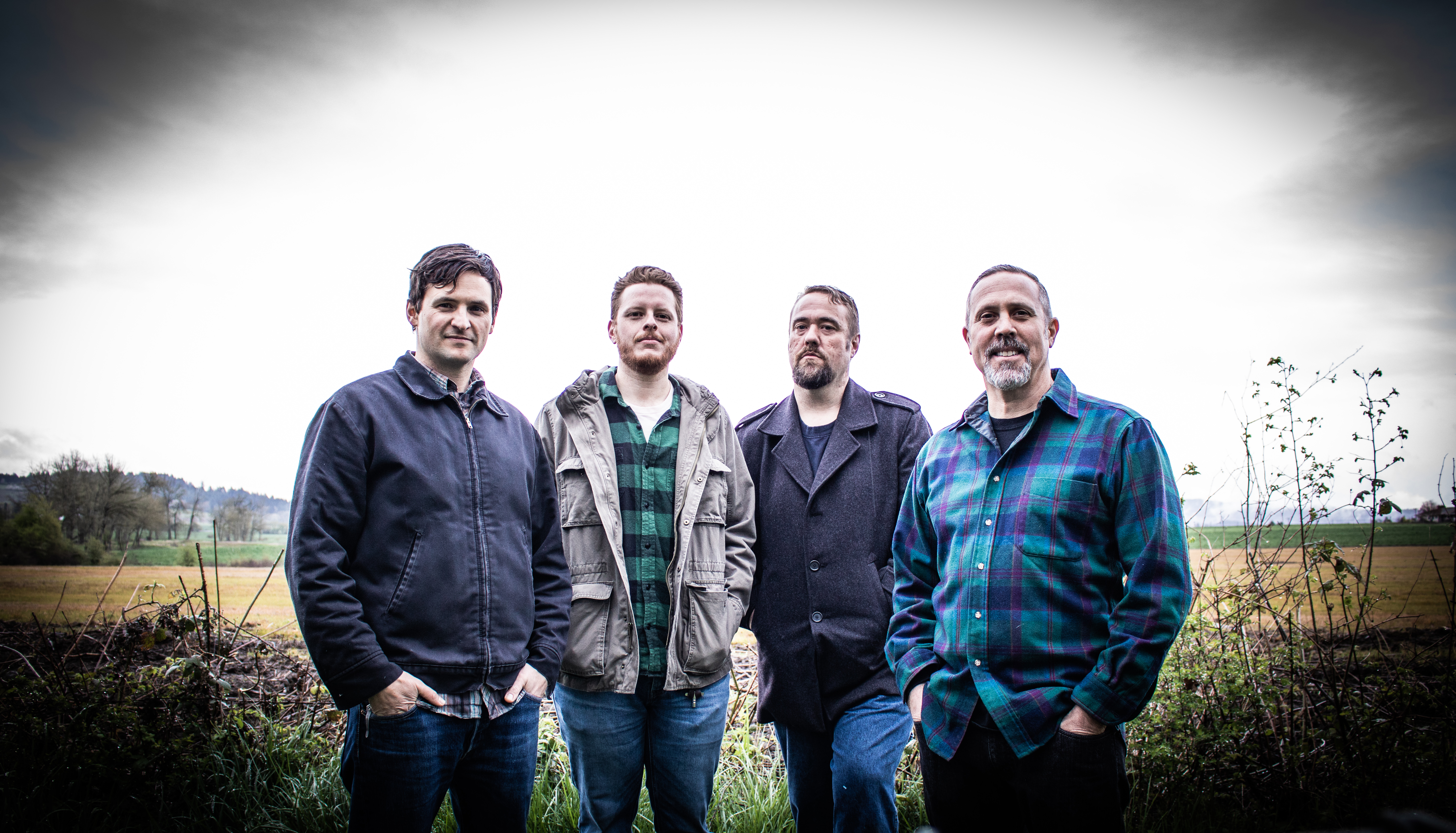 Ships to Roam band members include (from left) Liam Stary (bass), Ryan Hales (drums), Jerome Blankenship (guitar), and Michael Robert Brown (guitar). Not pictured is Jim Garcia (guitar).