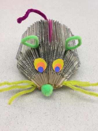 A student in one of Moulton's workshops delivered her letter in the form of this mouse.