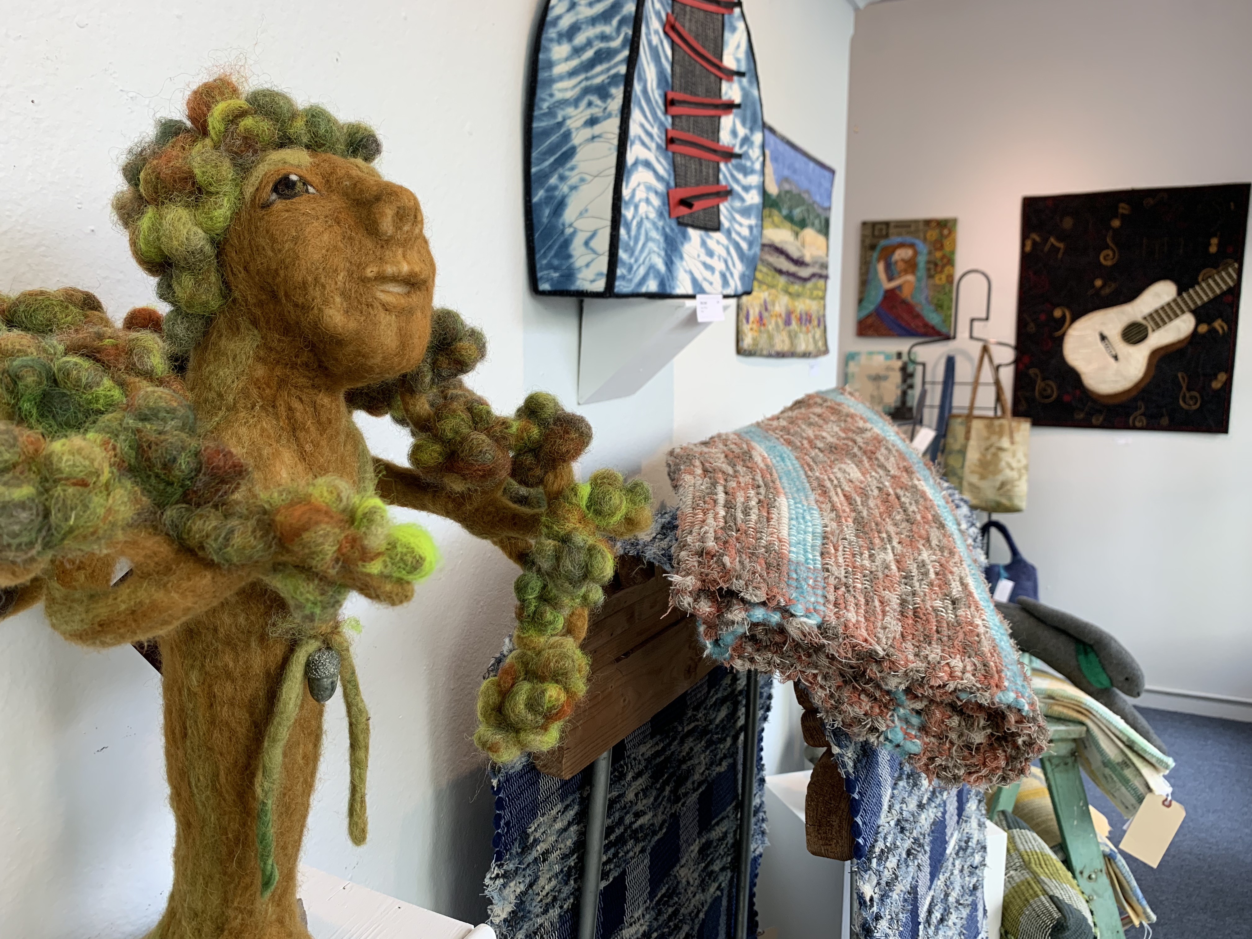 """""""Gifts from the Grandmothers: Wisdom,"""" a felted wool piece by Cheryl Berglund, is part of  Currents Gallery's 10th annual fiber show in downtown McMinnville. Photo by: David Bates"""