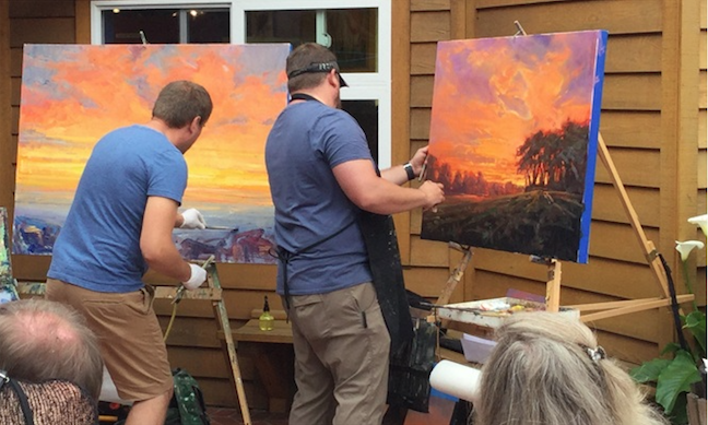 Dualing And Dueling At The Easel Oregon Artswatch