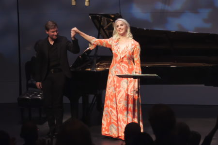 Anne Sofie von Otter and Kristian Bezuidenhout at Friends of Chamber Music concert October 2019. Photo courtesy of FOCM.