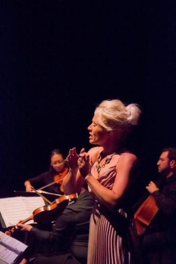 Siri Vik at 'Local Sounds' rehearsal. Photo by Kelli Matthews.