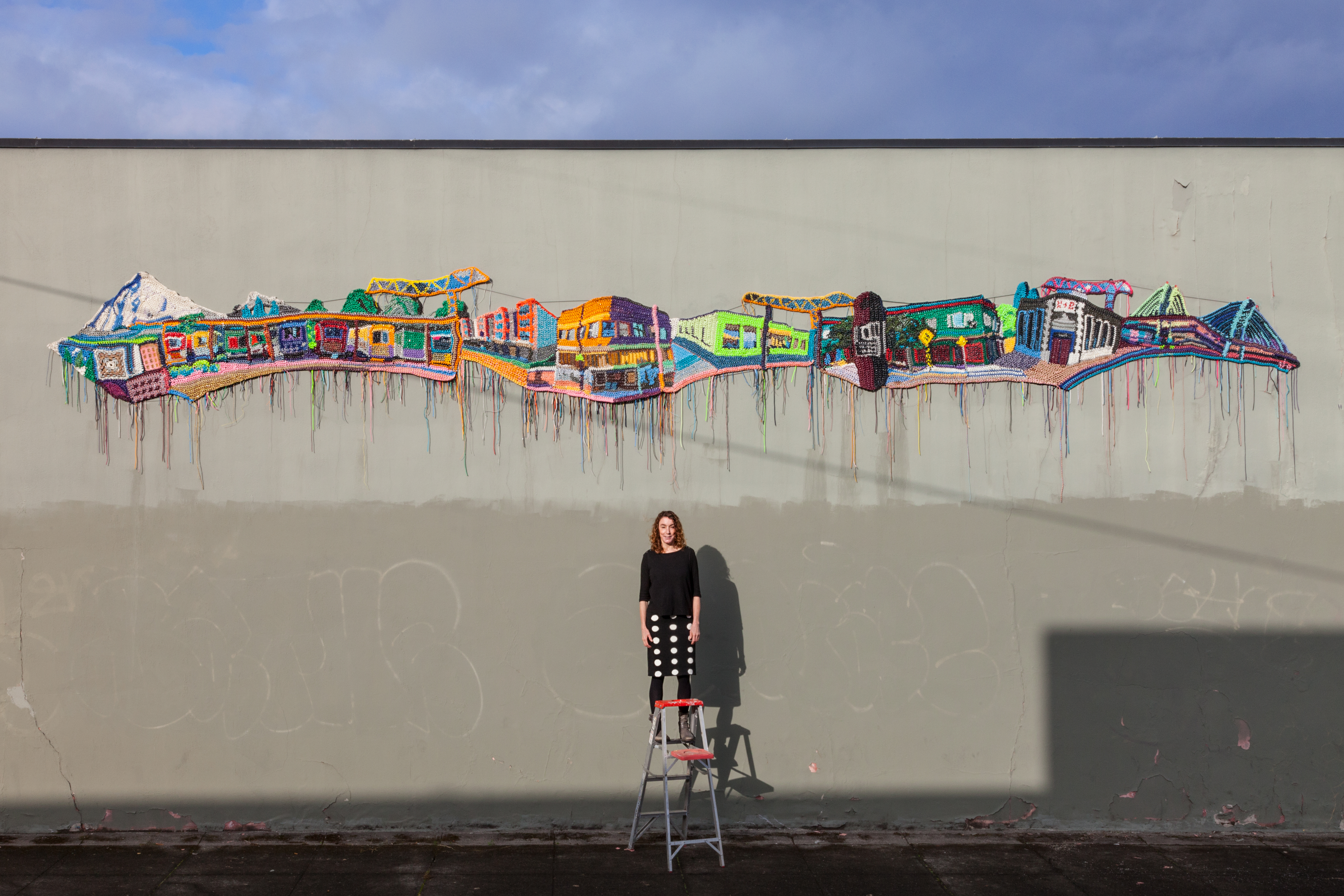 Jo Hamilton with her new mural