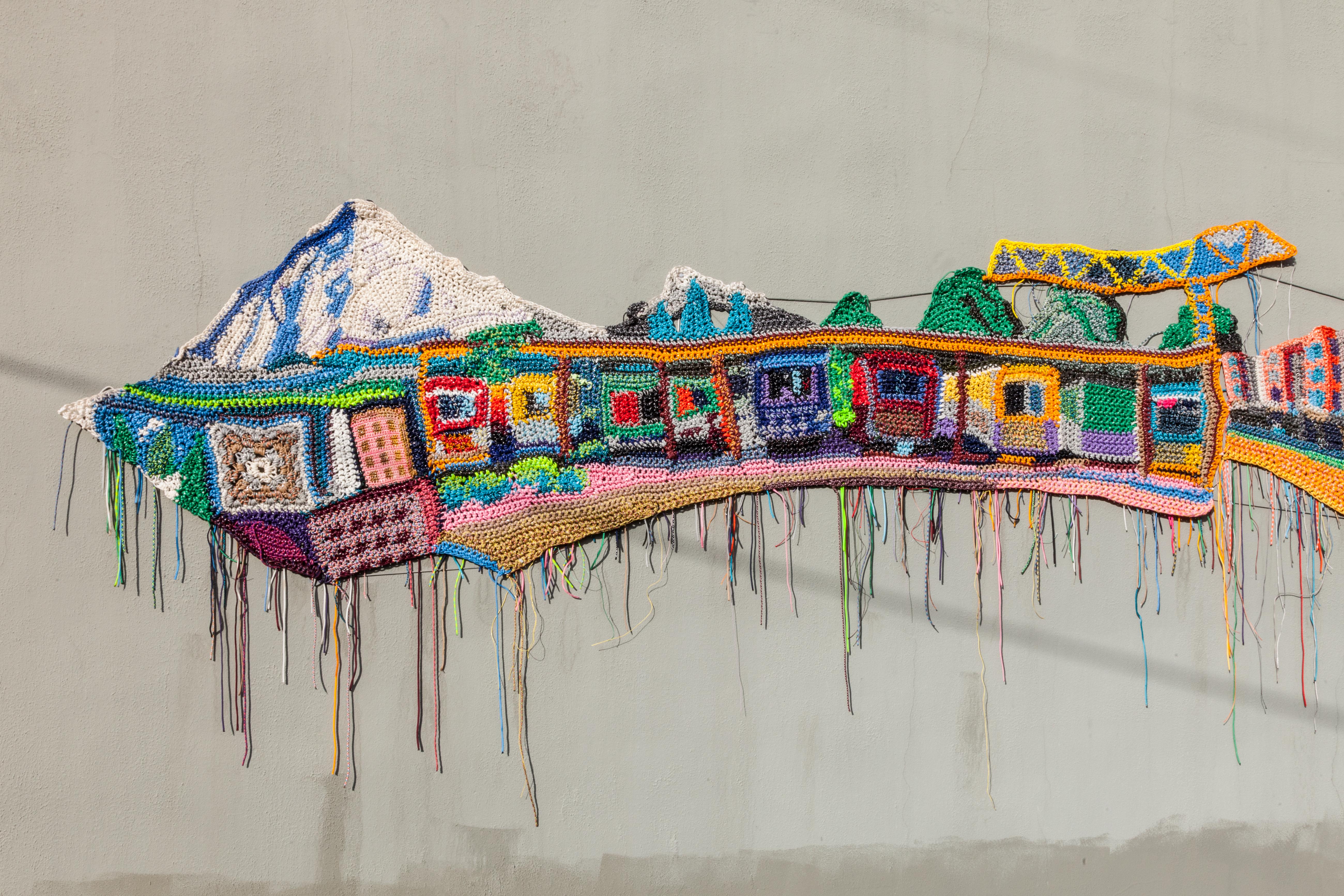 detail of Jo Hamilton's mural