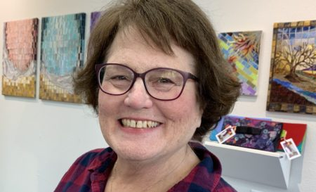 Marlene Eichner unveiled her new fabric show at Currents Gallery in McMinnville this week. The show runs through Nov. 10. Photo by: David Bates