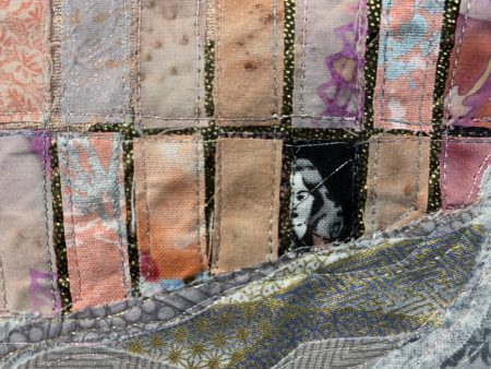 """Detail from """"Ashland Inspiration I"""" by Marlene Eichner. Photo by: David Bates"""