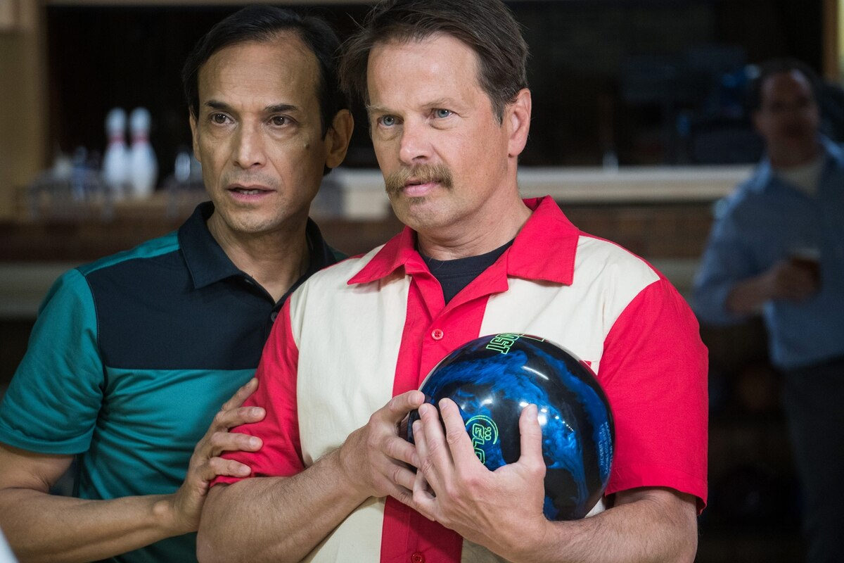 """Phoenix, Oregon,"" stars Jesse Borrego (left) and James LeGros as friends who quit their jobs to restore an old bowling alley and serve the ""world's greatest pizza.""  It plays Oct. 28."