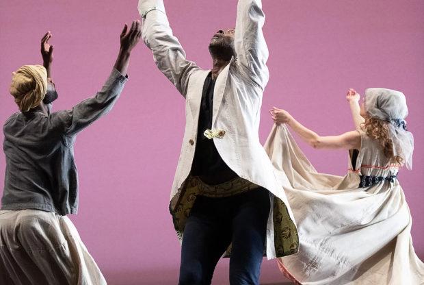 Dancers in Reggie Wilson's Fist and Heel Dance Troupe