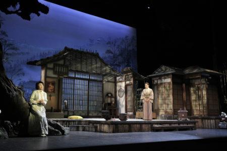Hiromi Omura as Cio-Cio-San and Nina Yoshida Nelsen as Suzuki in Portland Opera's 2019 production of Puccini's Madama Butterfly. Photo by Cory Weaver/Portland Opera.