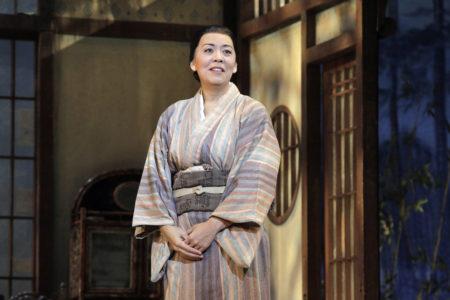 Nina Yoshida Nelsen as Suzuki in Portland Opera's 2019 production of Puccini's Madama Butterfly. Photo by Cory Weaver/Portland Opera.